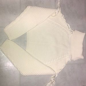 Tops - Fashion move crop knit top
